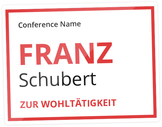 Name badges — Conference Badge