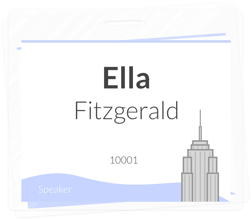 Create beautiful name badges that fit the New York style